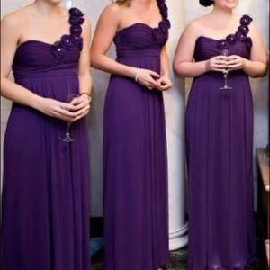 Purple, one-shoulder, formal, long dress